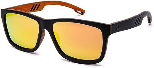 Tree Tribe Beach Blazer Wooden Sunglasses, Polarized Lens - Real Wood Frames