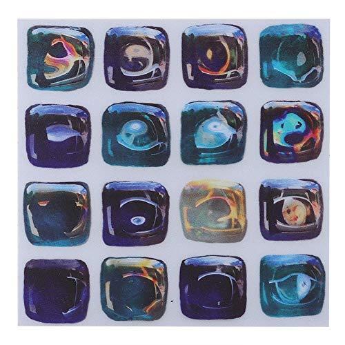 Wifehelper 18 stuks Mosaic Tile Transfer stickers badkamer keuken DIY Home (10cm * 10cm) zelfklevende tegelstickers