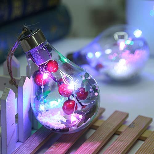 YCEOT glazen ornamenten transparante kerstballen buiten party hanging nachtpatio LED Home