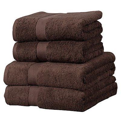 Linens Limited Luxor - Toalla de baño 100% algodón Egipcio - Chocolate, Ancho 70 x Largo 130 cm
