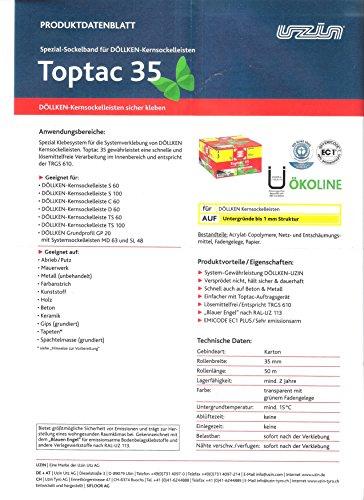 Siga Toptac 35, Montageband, Spezialklebeband, Klebeband, 50 m Rolle