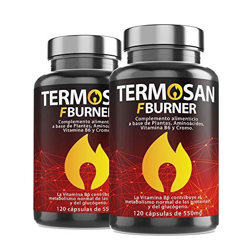 Thermogenic Natural Slimming | Powerful Fat Burner for Weight Loss | Fat Burner | Garcinia Cambogia + L-Carnitine + Green Tea + Guarana | Weight Loss Pills | Fat Burner | Sweat Appetite | 240 Ca
