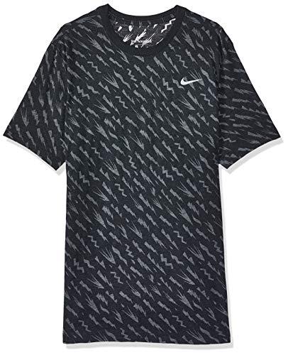 NIKE CK5056-010 Camiseta de Manga Corta para Hombre, Black/Dk Smoke Grey, L