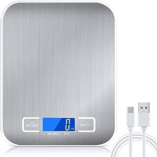 Balance Cuisine Electronique Precision 0,001 kg - Raniaco Rechargeable/Batterie Acier Inoxydable Balance Numérique de Cuis...