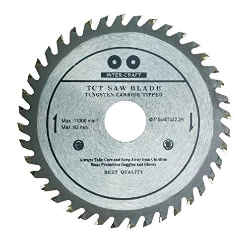 Inter-Craft, Lama da 115 mm per sega circolare, per legno, di alta qualità, 115 mm x 22,2 mm, a 40 denti