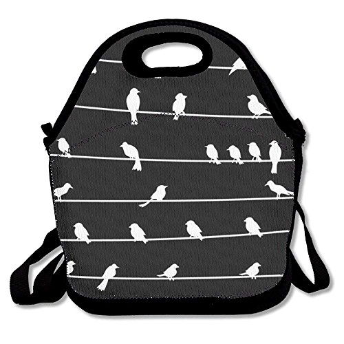 White Bird On Wire Lunch Bag For Men Women Kids - Best Travel Bag