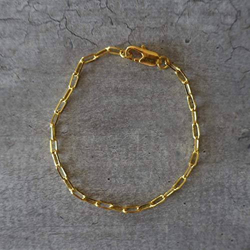 Gold plated large links bracelet
