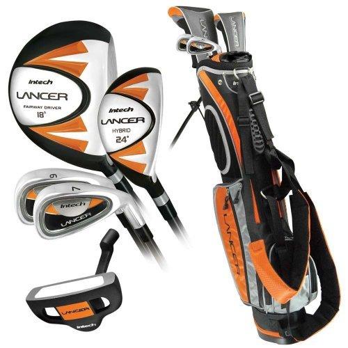 Intech Lancer Junior Golf Club Set (LH Orange Ages 8-12), Model:K59624