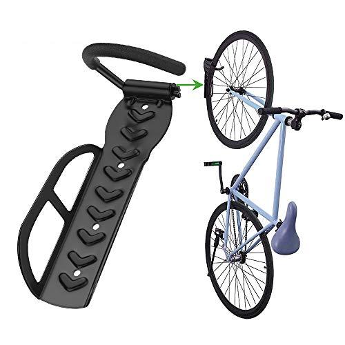 Nuovoware Fahrradständer, 270 ° Drehung Wandmontage Fahrradhalter mit Silikon, Kratzfest Wandhalterung Fahrradhalterung Fahrräder Aufbewahrungsständer Belastbarkeit bis zu 30 KG - Schwarz