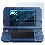 atFoliX Schutzfolie kompatibel mit Nintendo New 3DS XL 2015 Folie, ultraklare FX Displayschutzfolie (3er Set)