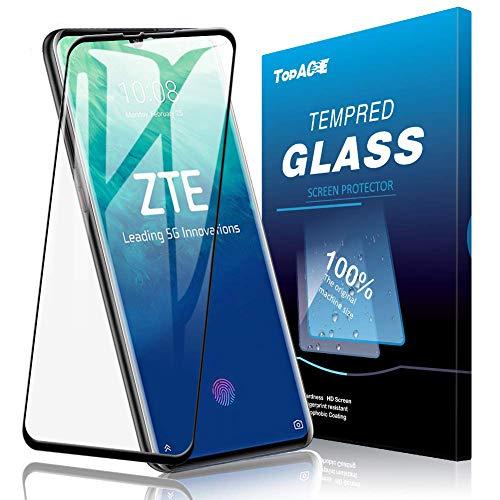 TOPACE 2 Stück Panzerglas Schutzfolie für ZTE Axon 10 Pro 5G/ ZTE Axon 11 (5G), [Volle Bedeckung] Ultra Dünn 9H Festigkeit Ultra-HD Blasenfrei Anti-Kratzer Anti-Öl Gehärtetes Glas Bildschirmschutz