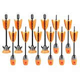 Zing Toys 12 Units Extra Arrows Refill - 5 Whistle Arrows and 5 Suction Cup Arrows - Orange - for Hyperstrike Bow and Z-Tek Bow