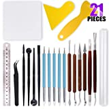 Swpeet 21Pcs Modeling Clay Sculpting Tools Kits, Handle Double-Sided Set, Dual-Ended Desig...