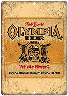 Tollyee Olympia Beer St. Paul MN Man Cave Décor Vintage Ad Reproduction Metal Sign 12 X 18 inches