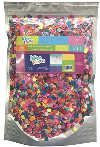 Idea Fiesta Multicolor Confetti Toss - 10 Oz. of Paper Confetti in a Stand Pouch Bag - Mexican Confetti - for All Kind of Celebrations and Parties