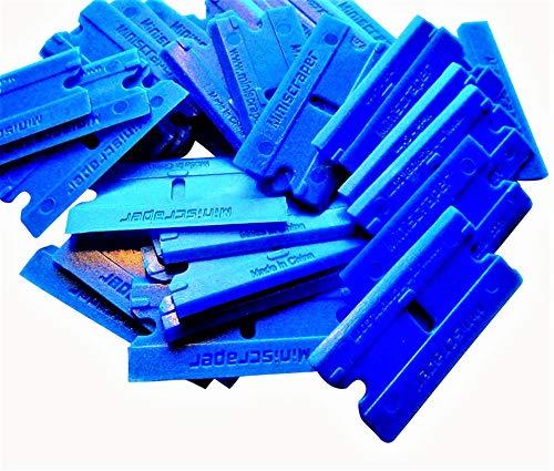 MINISCRAPER 100 Pack Plastic Razor Blades Double Edged Polycarbonate