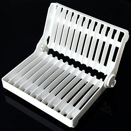 OUNONA Égouttoir à Vaisselle Egouttoir Vaisselle Plastique,Blanc
