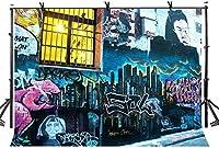 HD 7X5ftグラフィティアート背景漫画スタイルグラフィティアート壁写真背景写真アートスタジオ背景小道具WLY003