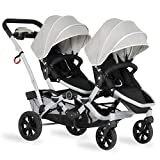 Dream On Me, Track Tandem Stroller- Face to Face Edition in Light Grey, Gray