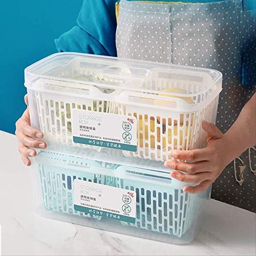 LYY Contenedor de Almacenamiento, Caja de refrigerador, para refrigeradores, Transparente, Contenedores de Almacenamiento de Alimentos