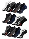 sockenkauf24 - Herren Sneaker Socken ACTIV Baumwolle 8/12 / 20 Paar Herrensocken Sportsocken - 16737 (39-42, 12 Paar - Farbmix)