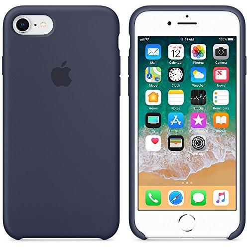 Funda para iPhone 7/8 Carcasa Silicona Suave Colores del Caramelo con Superfino Pelusa Forro,Anti-rasguños Teléfono Caso para Apple iPhone 7/8 (iPhone 7/8, Azul Noche)