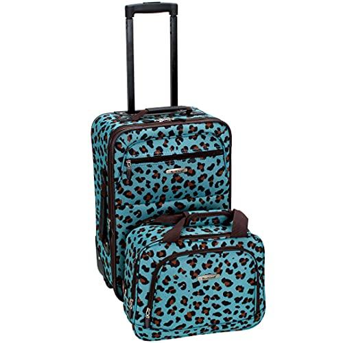 Rockland - Juego de Maletas Adulto Unisex, Blue Leopard (Azul) - F102