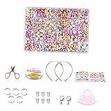 harayaa Kits de Abalorios para niñas - Manualidades para niños Kits de fabricación de Joyas para niñas Juego de Abalorios de acrílico Colorido Juego de - Conjunto 9