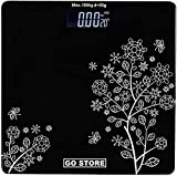 GO STORE INDIA Electronic Thick Tempered Glass LCD Display Digital Personal Bathroom Scale Health Body Weight Weighing Scales, weight machine for human body, weighing machine, digital weighing machine