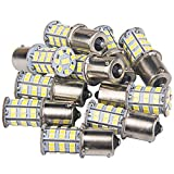 10 Pcs Extremely Bright 1156 1141 1003 1073 7506 BA15S LED Replacement Light Bulbs for Tail Backup Reverse Lights RV Indoor Lights 4000K Natural White(12V DC)