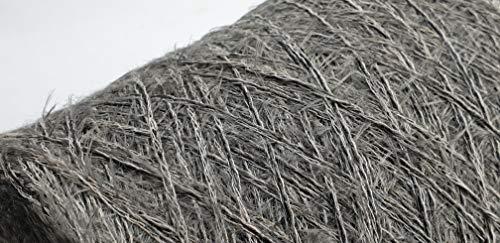 PhiloTeXX 700 g Baumwollgarn GP 22,00 €/kg grau Nm 4 Fransengarn Chenillegarn Effektgarn Stricken 100% Baumwolle