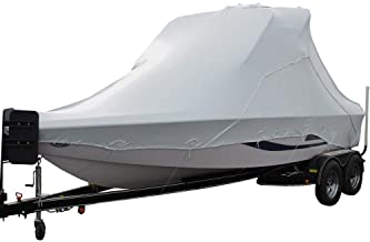 Transhield Waterproof Over The Wake Tower Boat Cover for Storage | Fits Vhull and Wide Bow Styles (Sizes 23 ft, 24 ft, 25 ft, 26 ft, 27 ft)