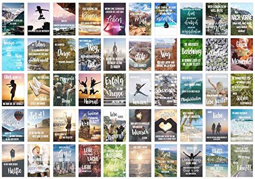 Edition Seidel Set 50 Postkarten Leben & Momente mit Sprüchen - Karten mit Spruch - Geschenk - Geschenkidee - Sortiment - Dekoidee - Text - Liebe, Freundschaft, Leben, Motivation (20246)