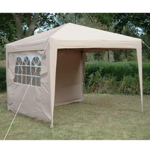 DeFacto Faltpavillon 2x2m Pavillon Gartenzelt Ink 2-Seitenteile Faltpavillon PVC- 100% Wasserdicht Tragetasche BEIGE