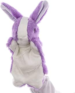 Children Hand Puppet Cute Little Rabbit Plush Toy Doll Early Childhood Parent-Child Interaction Creative Baby Safety Blanket, Soft Soothing Towel, (Color : Purple, Size : 30cm)