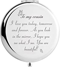 Cousin Gifts for Women Birthday, To My Cousin Travel Makeup Mirror for Graduation Christmas (Gift for Cousin)