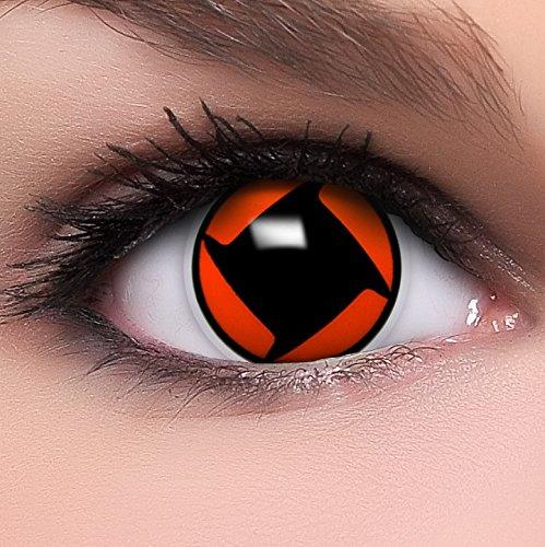 Sharingan Kontaktlinsen Shisui's Mangekyou in rot inkl. Behälter - Top Linsenfinder Markenqualität, 1Paar (2 Stück)