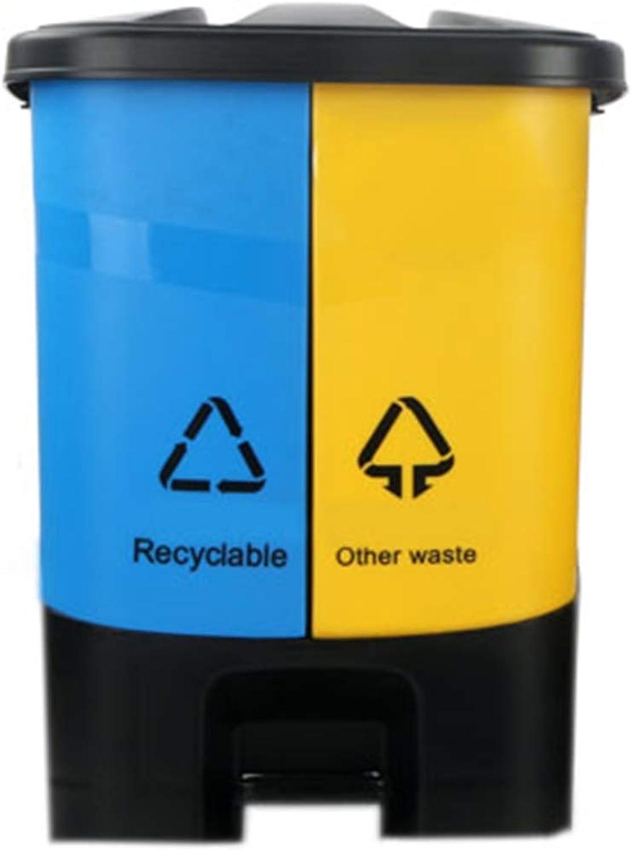 Entrega directa y rápida de fábrica Recipiente de reciclaje doble Compartimento de de de pedal 12l Tapas de plástico Compartimentos extraíbles para separar los residuos  Con 100% de calidad y servicio de% 100.