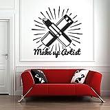 mlpnko Etiqueta de la Pared pintalabios pintalabios Mural habitación calcomanía de Pared patrón cosmético Maquillaje niña Dormitorio decoración extraíble112X96cm