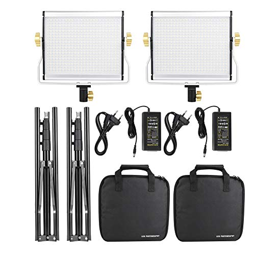 Cikonielf - Kit de iluminación LED para estudio de estudio (3200 – 5600K 110 – 240 V)