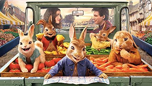 FDHGF Puzzle Adulto 1000 Piezas,Regalo de Juguete Juego Educativo para niños,Peter Rabbit en Verduras,Varios Patrones Soporte de personalización de imágenes.