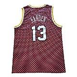 CLQ Sweat-Shirt Homme Harden Hommes Retro Basketball Jersey Personnalisé Rouge Houston Training T-Shirt 90S Hip Hop T-Shirt sans Manches (S-XXL)-XXL