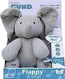 GUND 6053047 - Flappy, der singende und sprechende Elefant - deutsch, ca. 30 cm