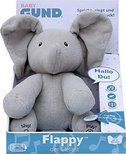 GUND Flappy, der singende und sprechende Elefant - deutsch, ca. 30 cm