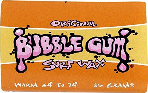 Bubble Gum Original Surf Wax Warm (64¡- 74¡) Single Bar
