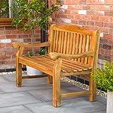 Kingfisher Heavy Duty Teak Bench Outdoor Garden Furniture - Flat Packed