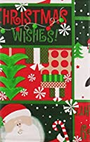 "Santa, Frosty and Penguin's Bright and Merry Christmas Wishes Vinyl Flannel Back Tablecloth (52"" x 90"" Oblong) [並行輸入品]"