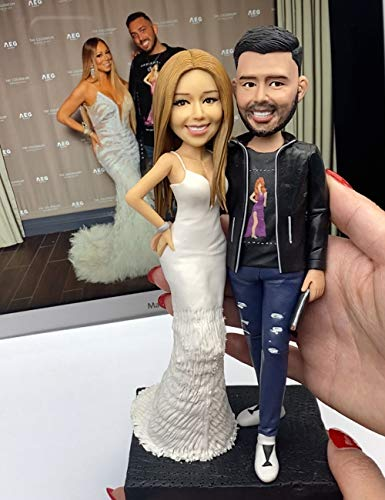 Personalized Fully Custom Made Figure Bobblehead Two Person Figurines Bespoke Portrait Sculpture for...
