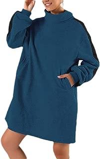 Macondoo Womens Dress Blouse Classic Pullover Turtleneck Long Sleeve Sweatshirts