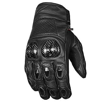 Men s Premium Leather Motorcycle Cruising Street Palm Sliders Biker Gloves L